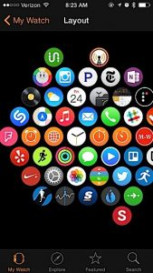 apple watch face setup using Iphone