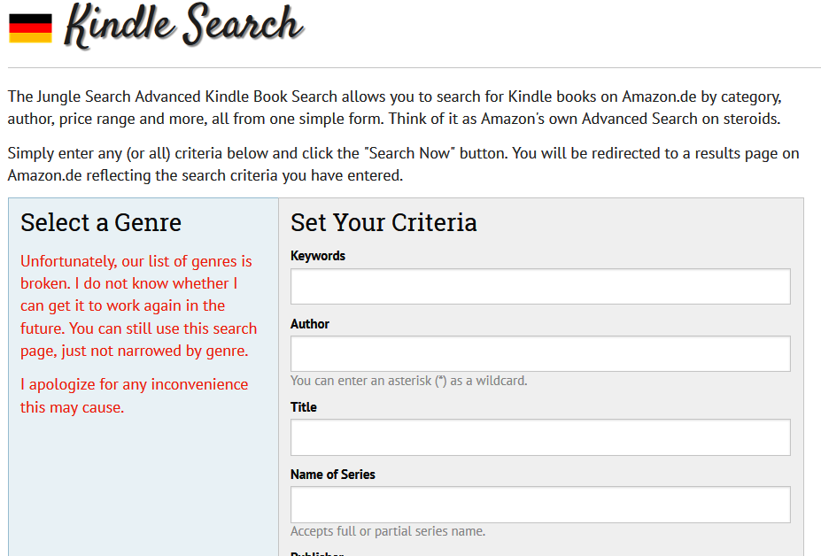 Jungle Searches in Kindle Search