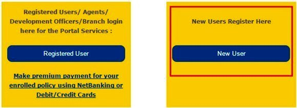 LIC Registration for New User