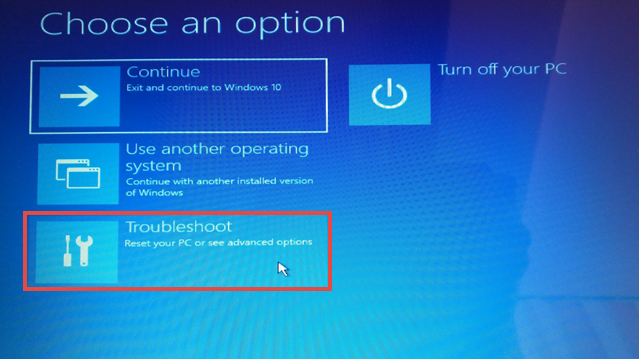Windows 10 Boot Troubleshoot