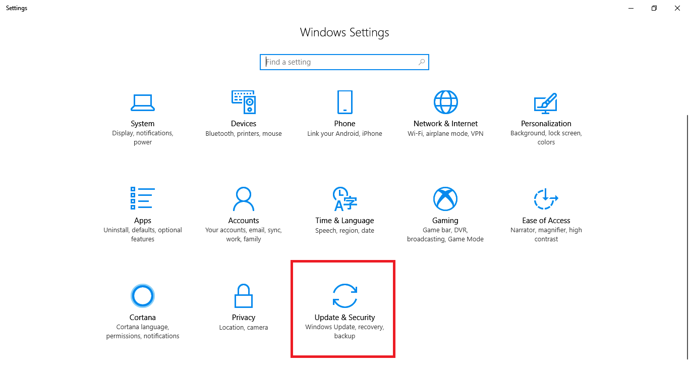 Windows 10 Safe Mode by Recovery Option