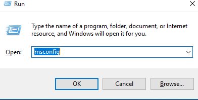 Windows 10 Run Option