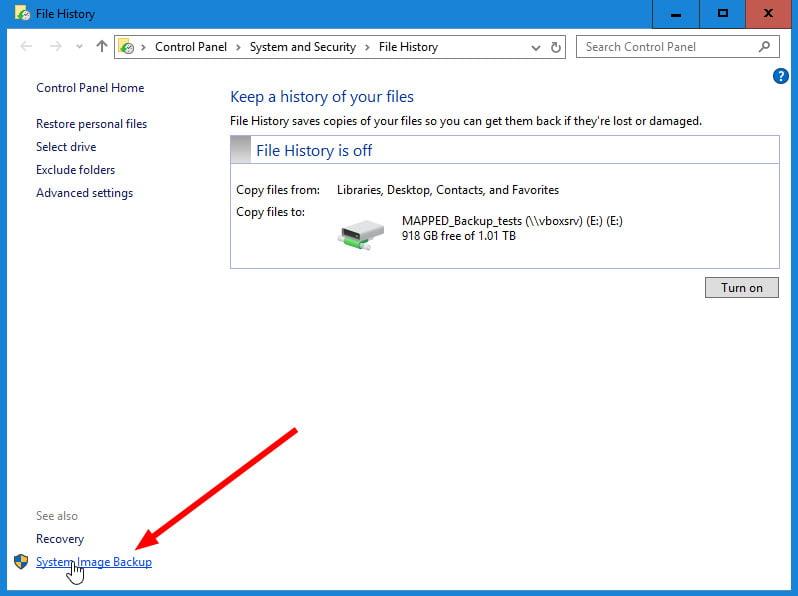 windows 10 file history backup